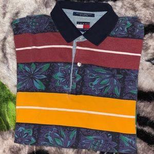 Tommy Hilfiger Short-Sleeve Hawaiian Polo Shirt